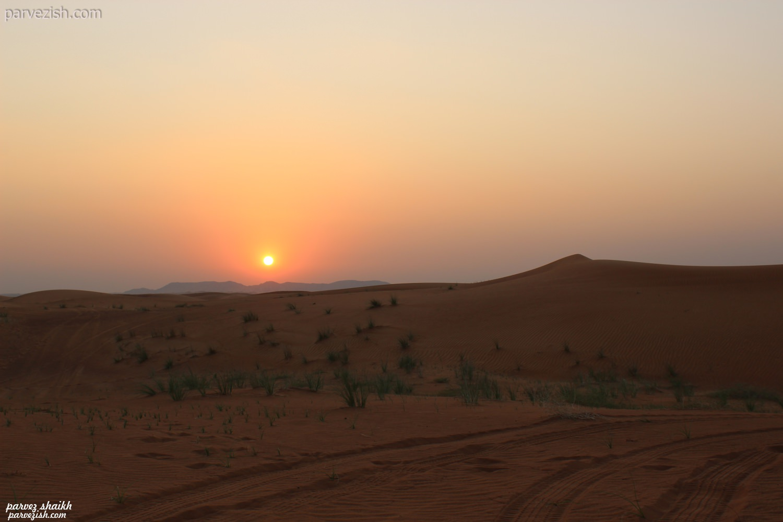 Dubai Desert Safari Sunset