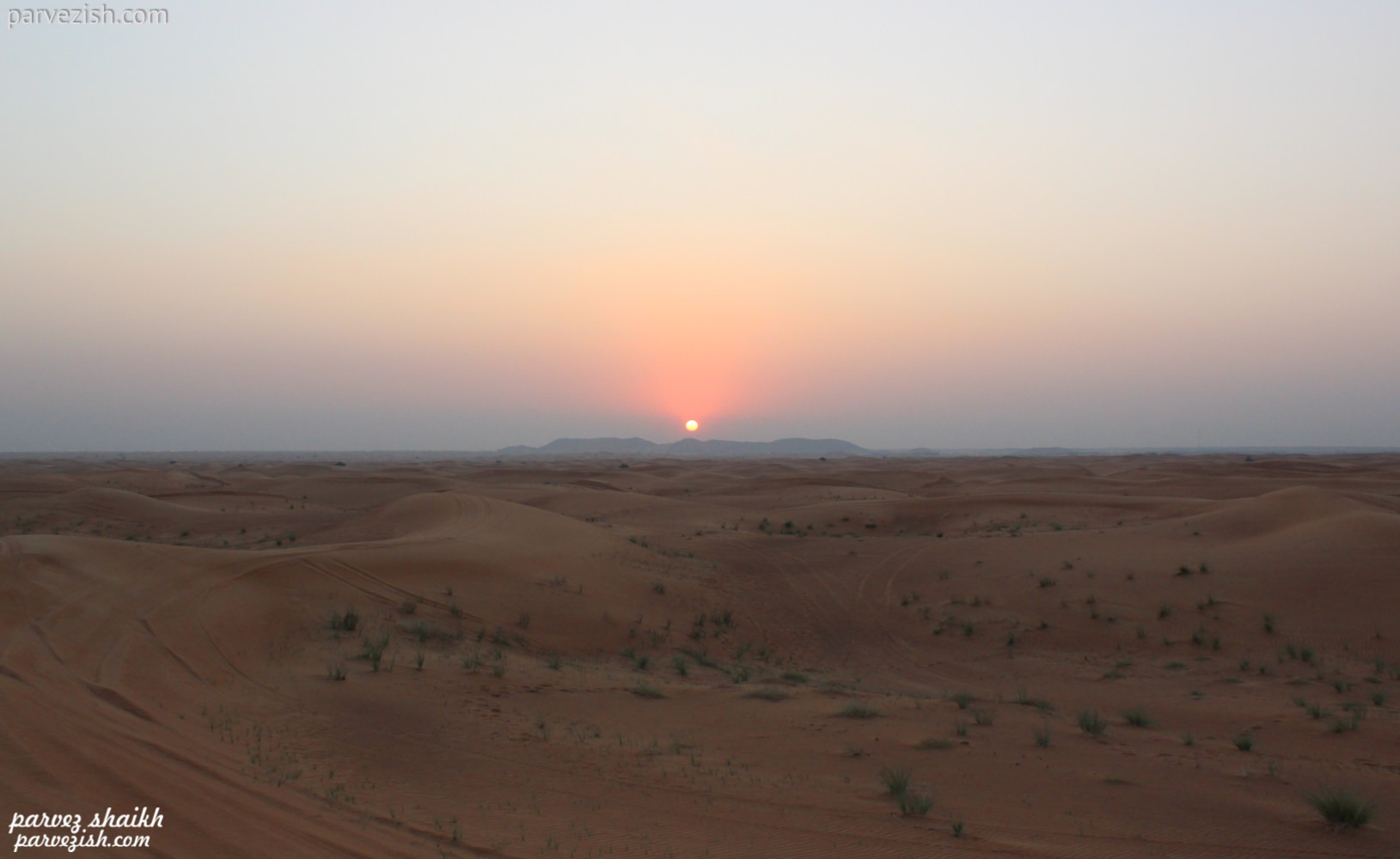 Beautiful Sunset from Dubai Desert