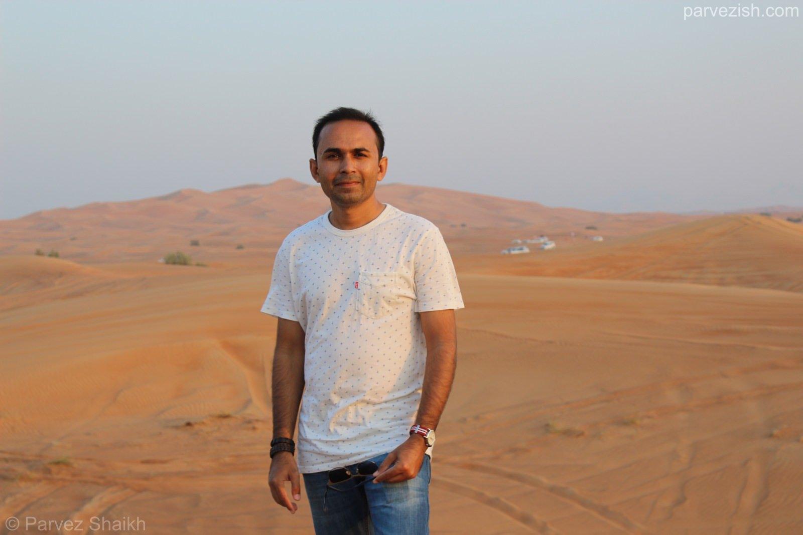Parvezish in Dubai Desert