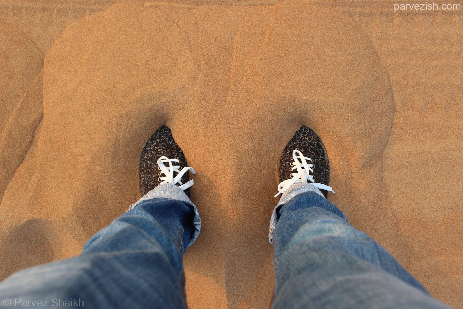 Walking in the Dubai Desert