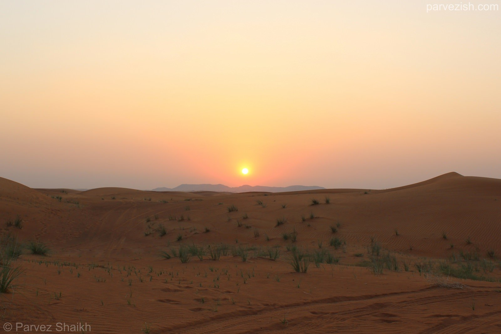 Sunset as seen from Dubai Desert