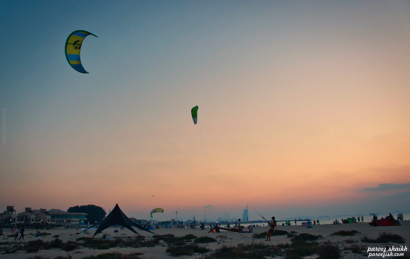 Kite Beach Dubai - Flying Kites