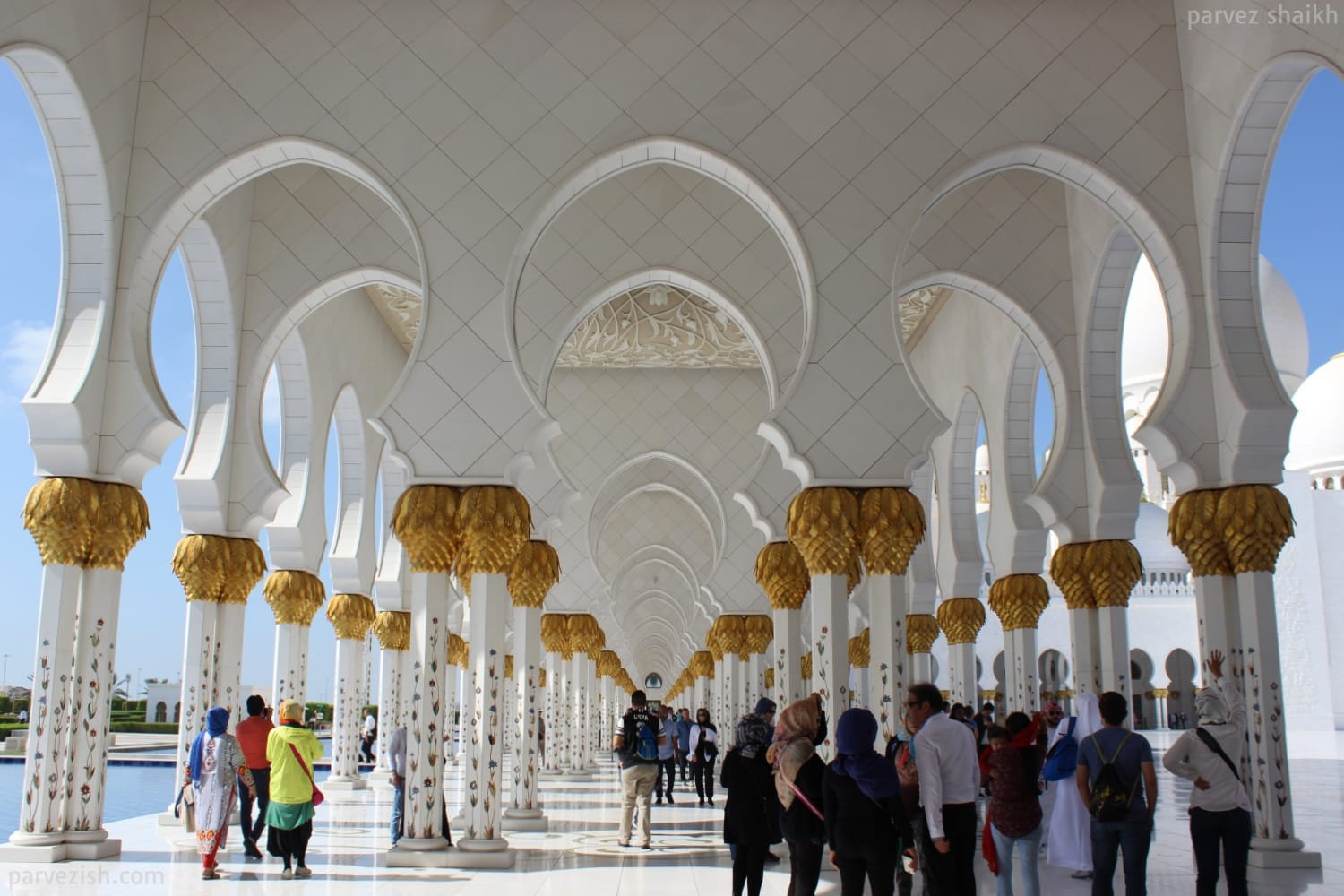 Abu Dhabi Grand Mosque Pillars