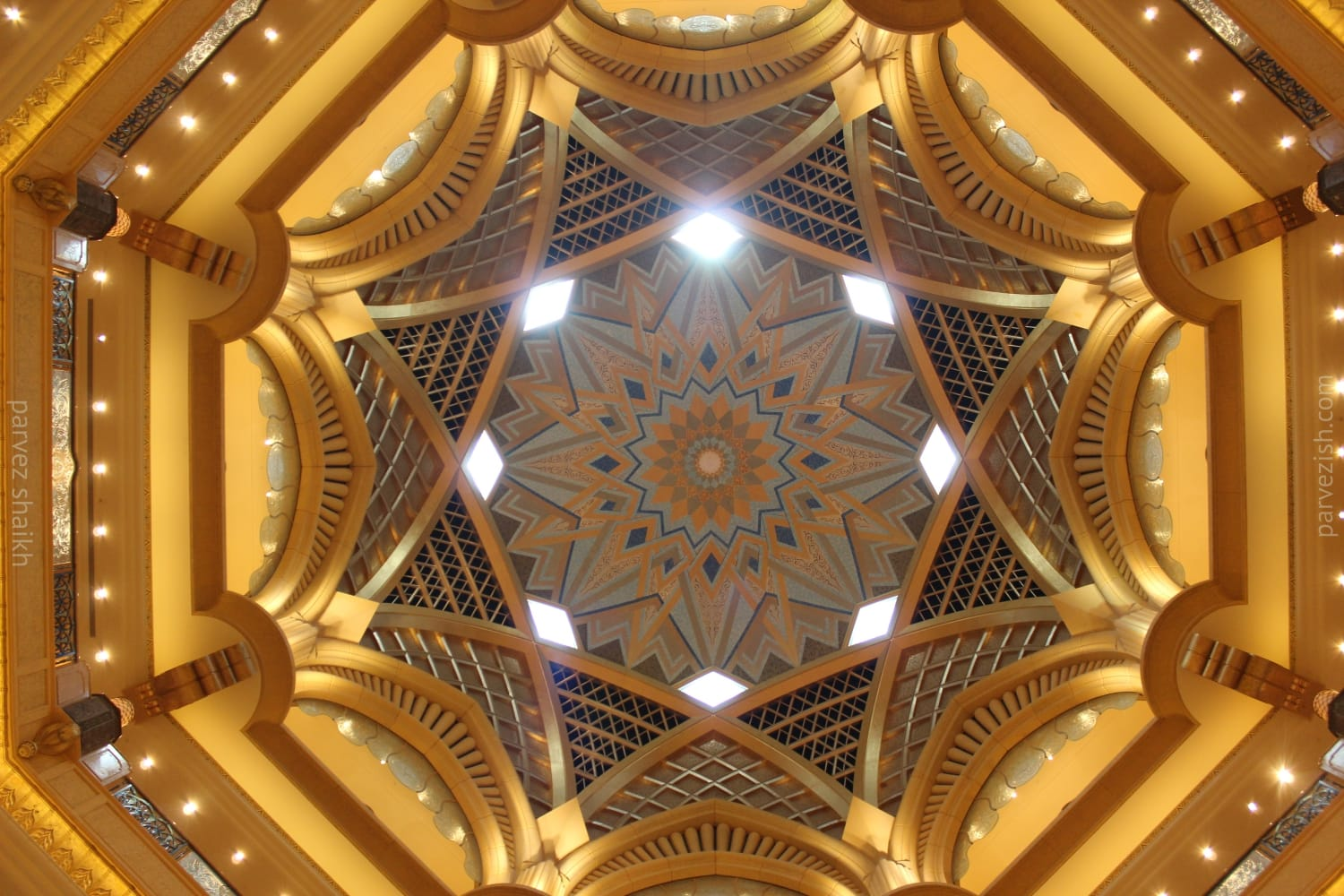 Emirates Palace Dome from Below