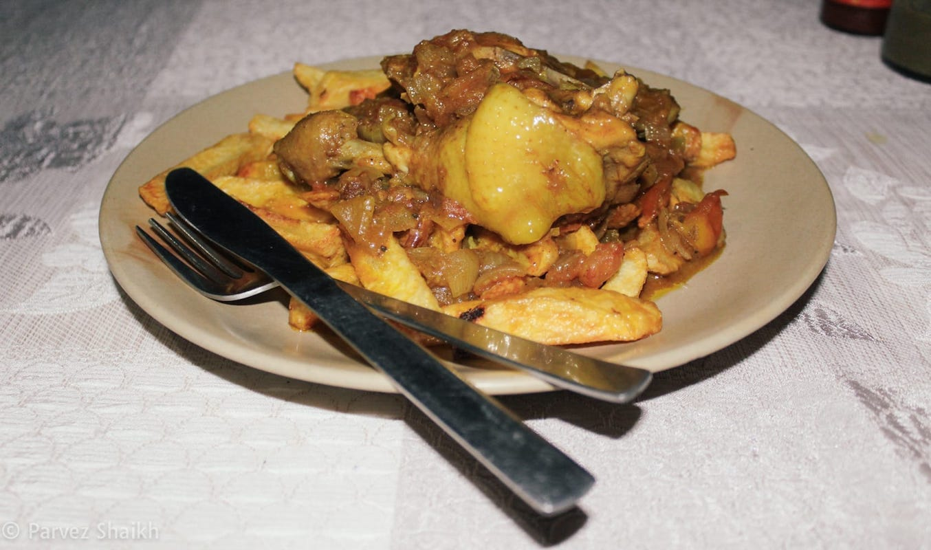 Chicken with Fried Potatoes, Nepal