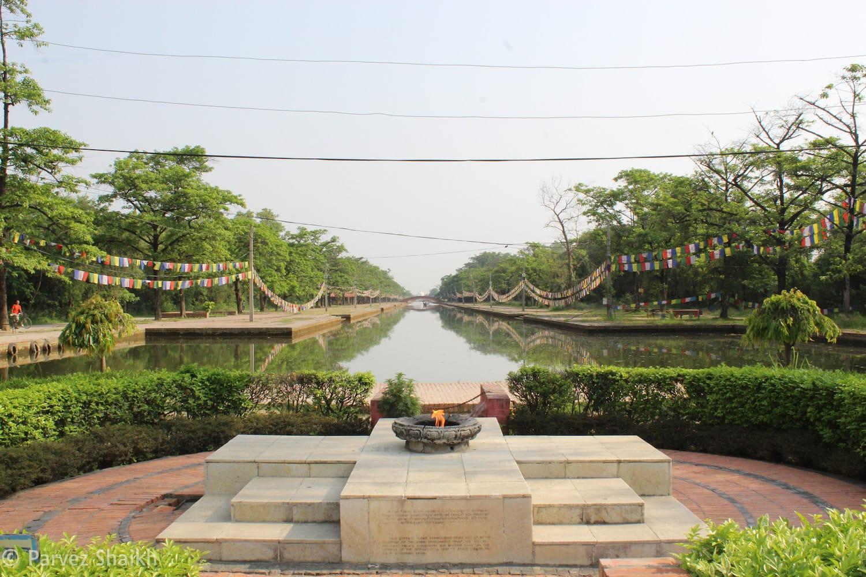 The Eternal Peace Flame Lumbini