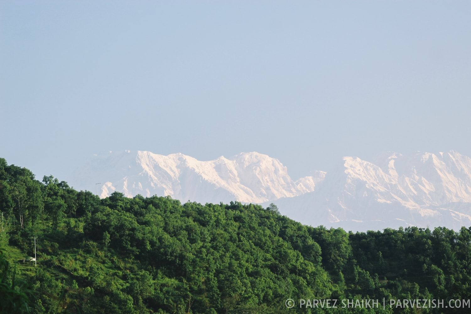 A View of the Himalayan Range from Methlang