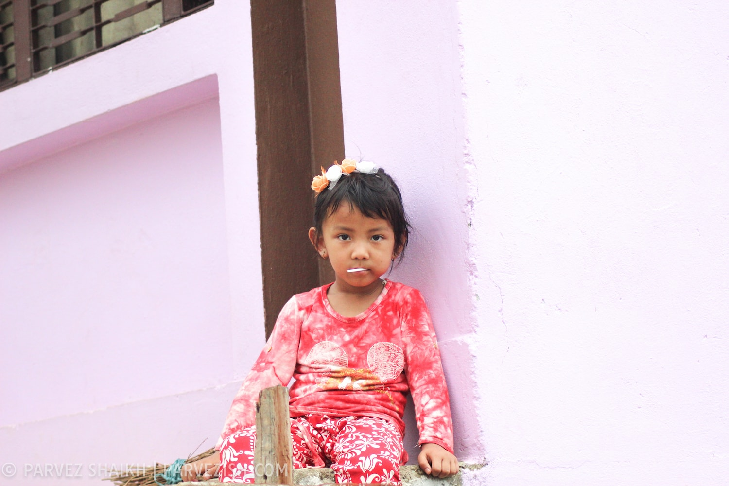 A Young Girl in Tansen, Nepal