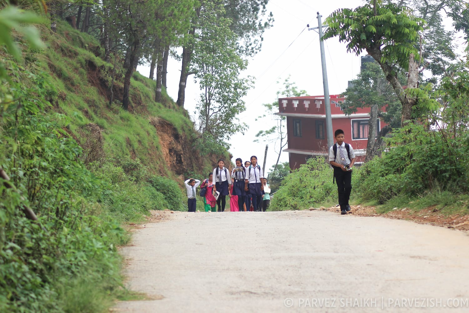 Children Returning from School Tansen