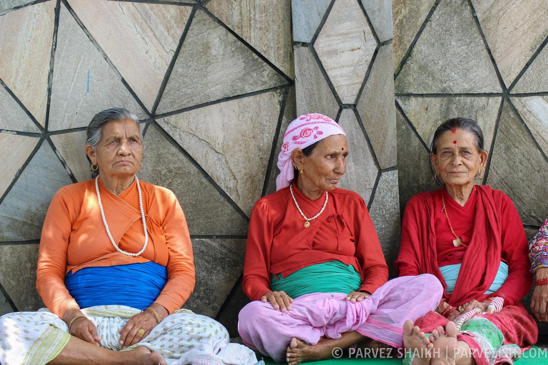 Nepali Old Ladies in Pokhara
