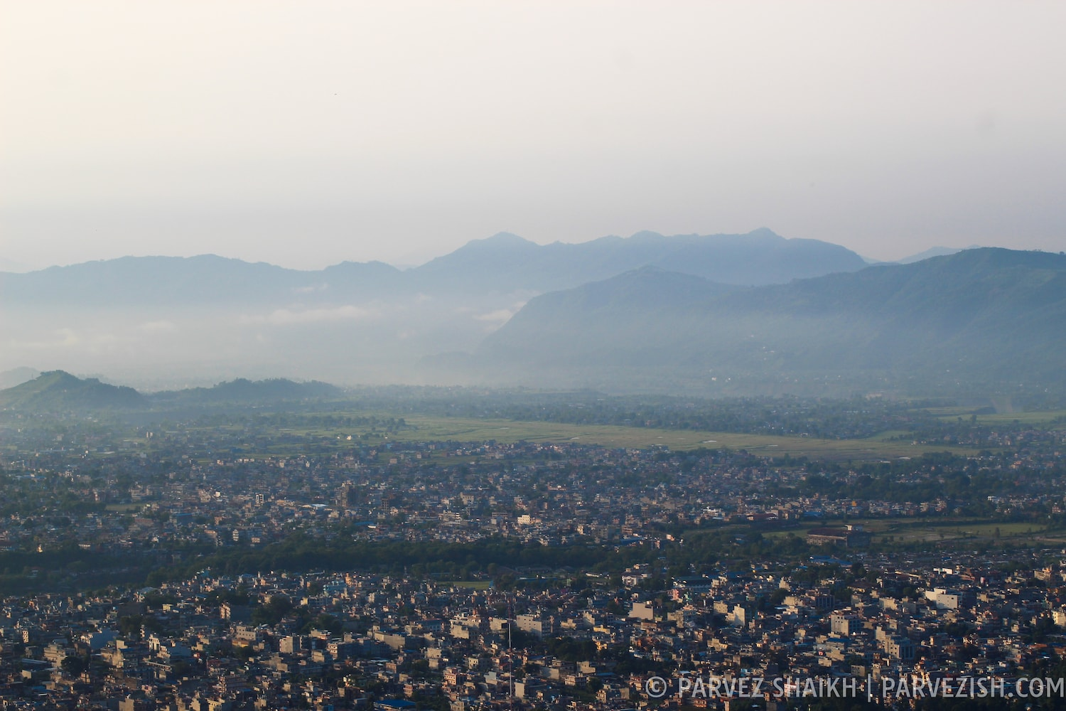 Pokhara As Seen from Methlang Village