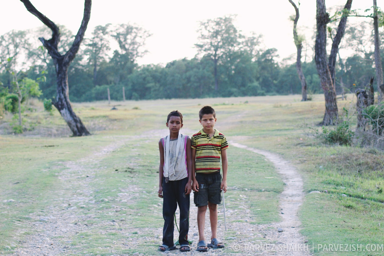 Two Young Friends in Bardia Village, Nepal