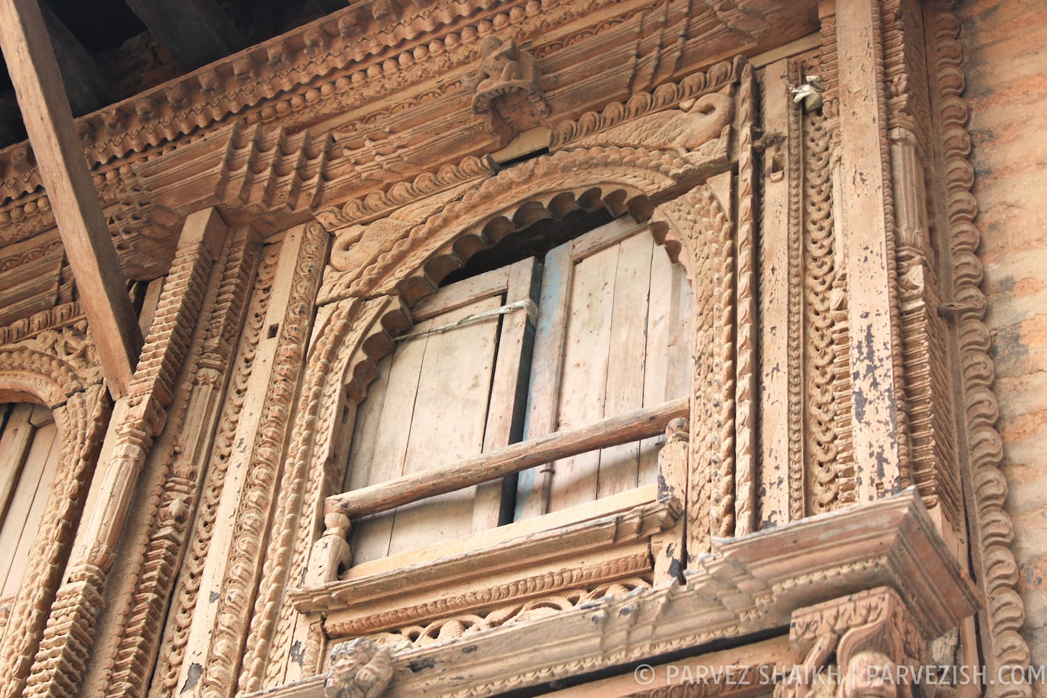 Window of on Old House in Tansen Nepal