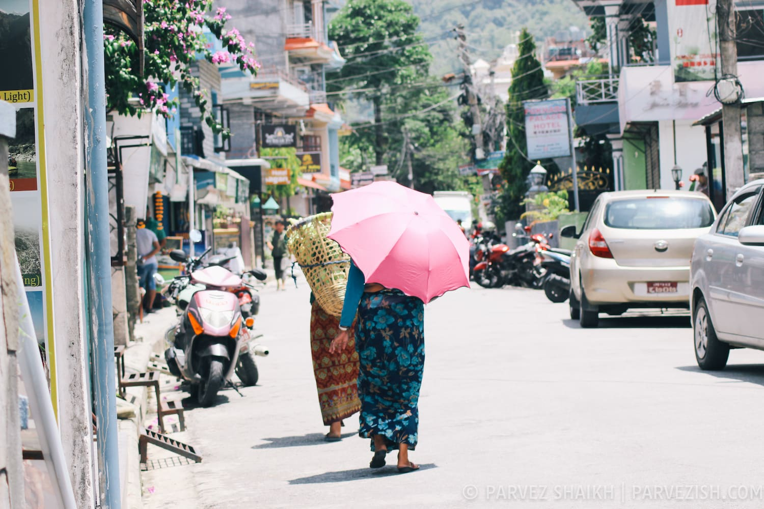 In the Streets of Pokhara, Nepal