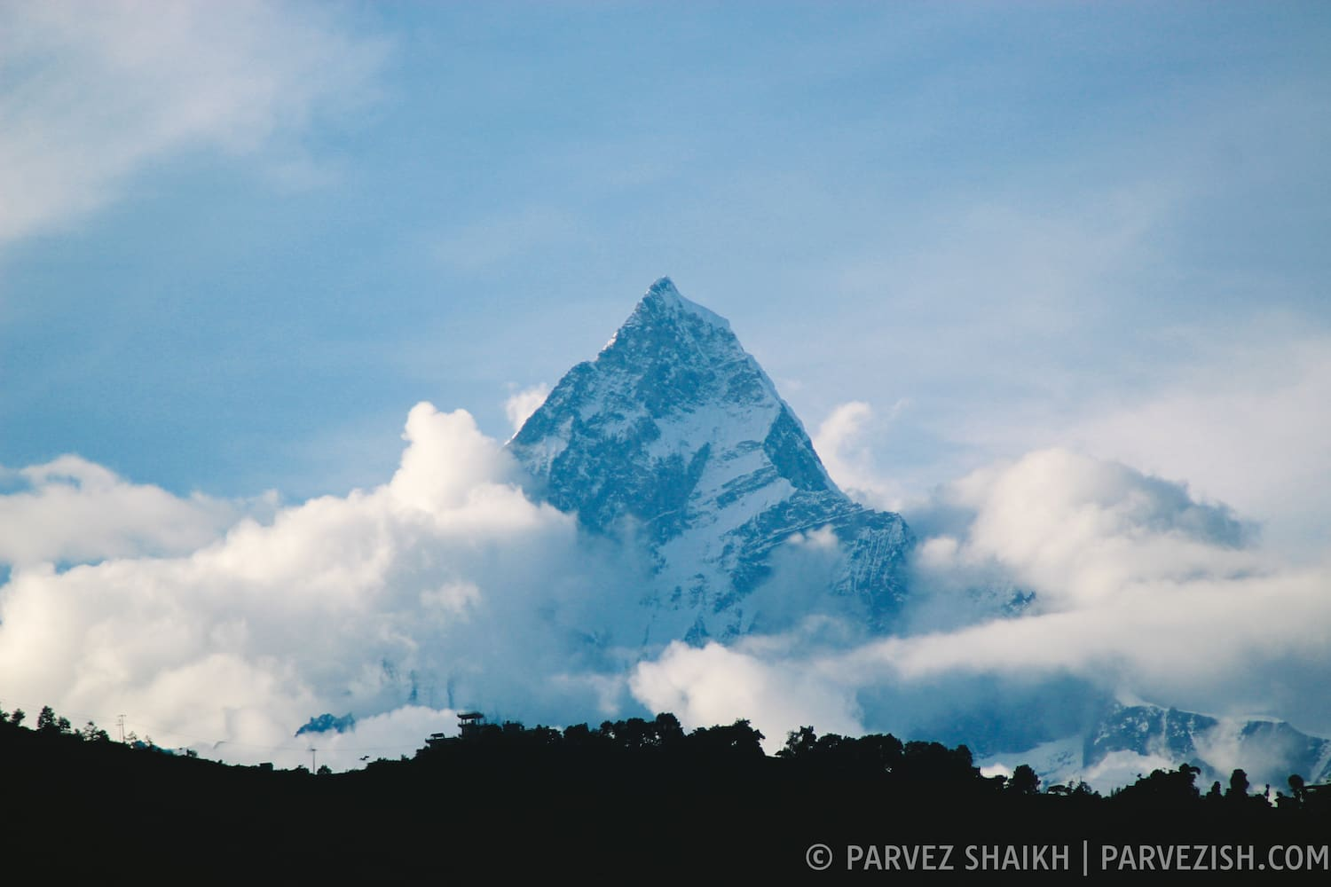 The Fishtail Mountain in Pokhara, Nepal