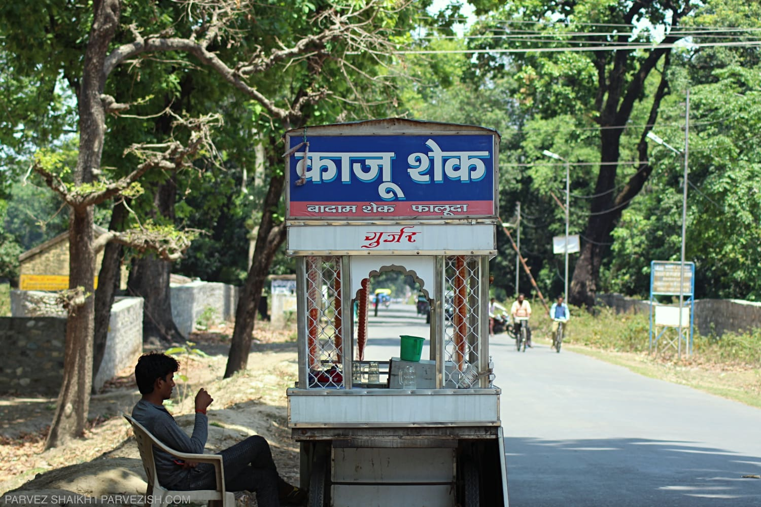 A vendor near the India Nepal border in Ambassa