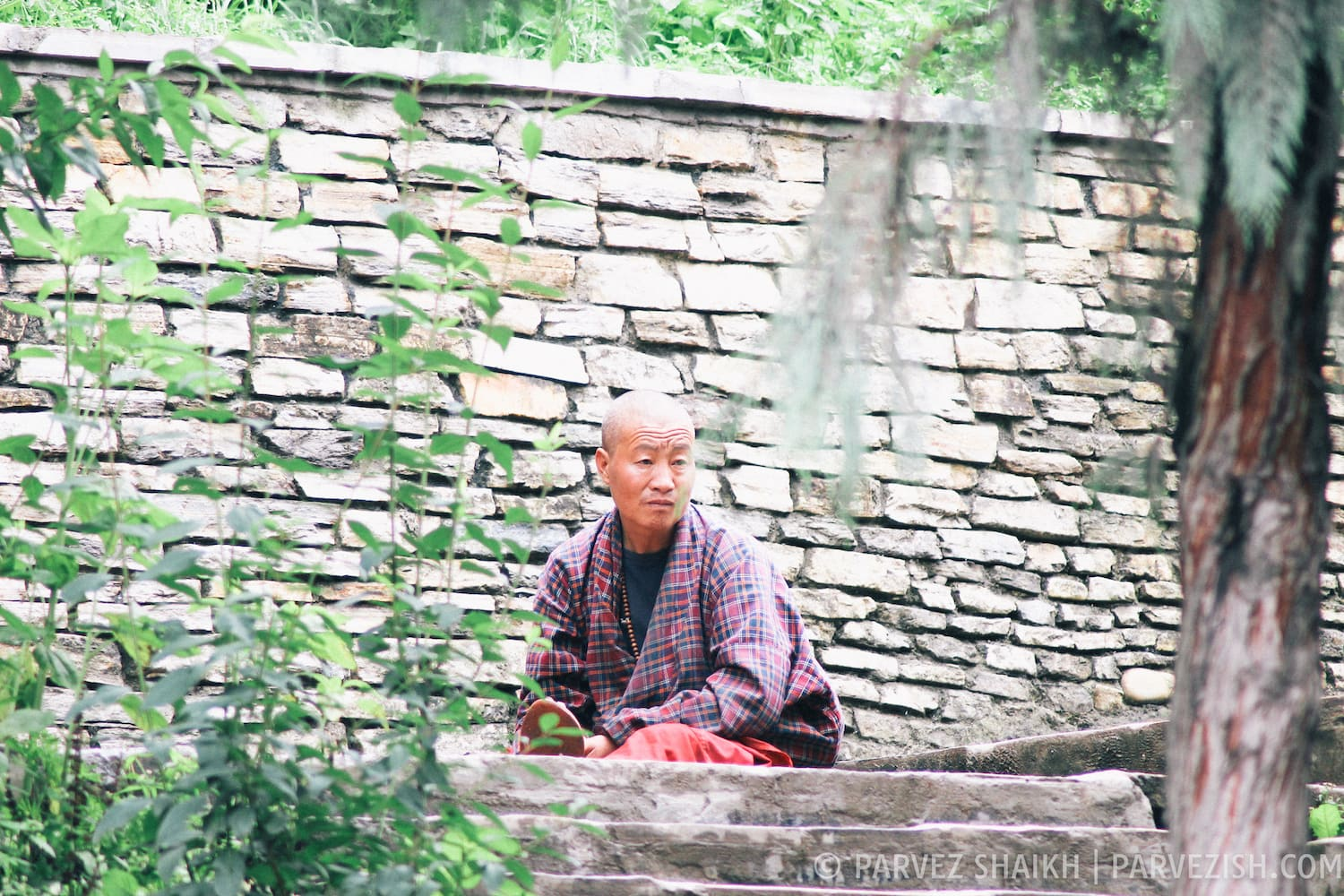 A Buddhist Monk in Thimphu, Bhutan