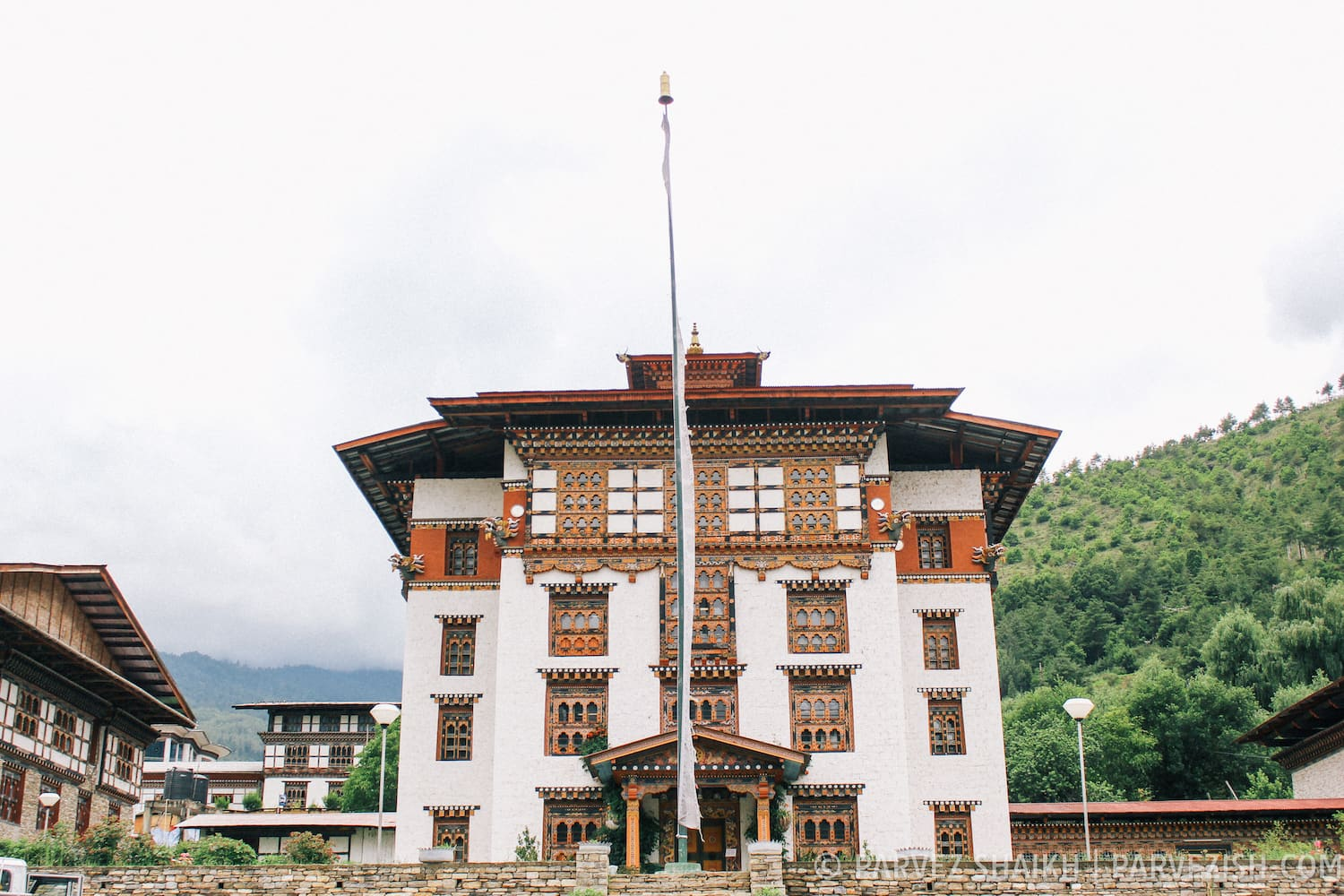 A Typical Building in Bhutan