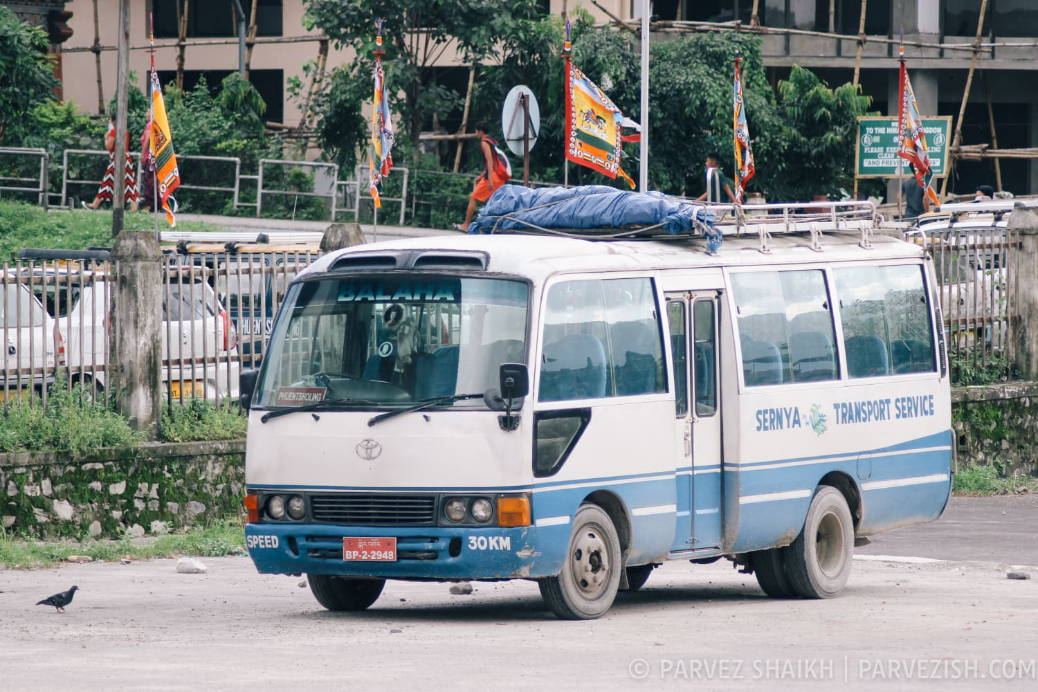 A Typical Bus in Phuentsholing, Bhutan
