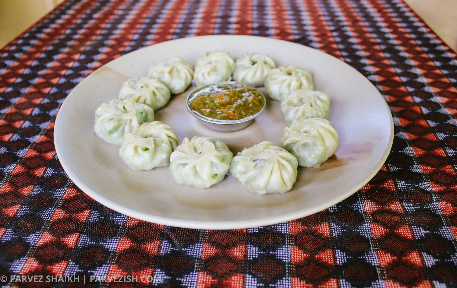 A Plate of Momos - Food to try in Bhutan
