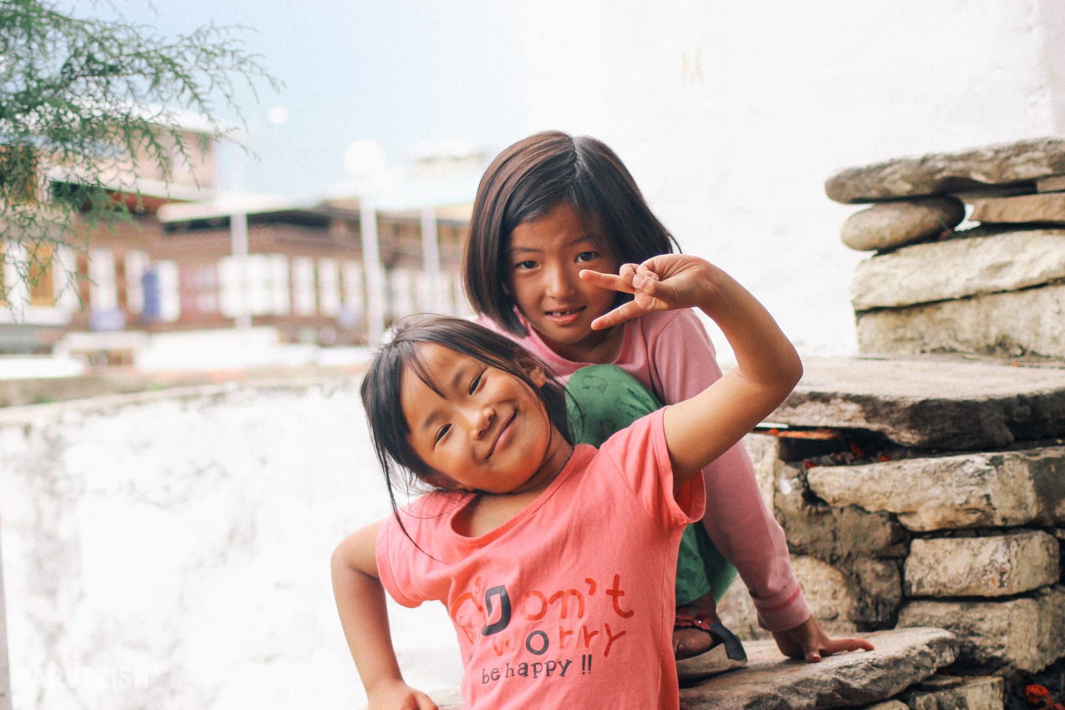 Kids at a Monastery in Bhutan