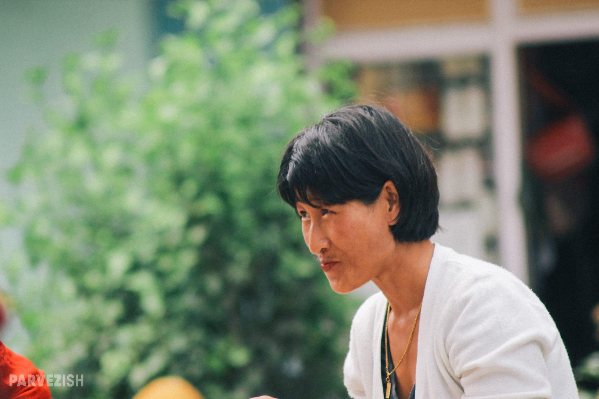 A Woman in Paro Bhutan