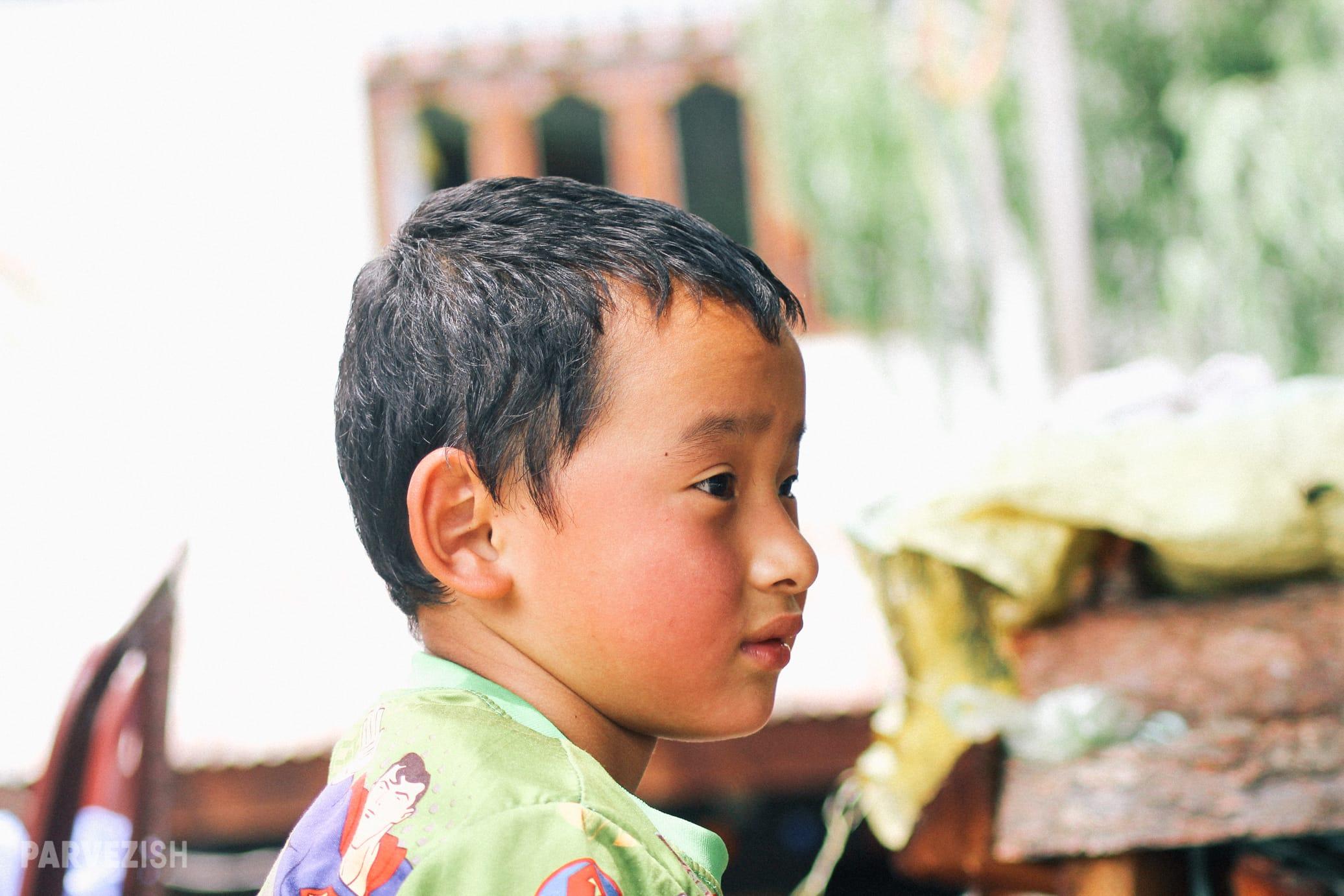A Young Boy in Paro Bhutan