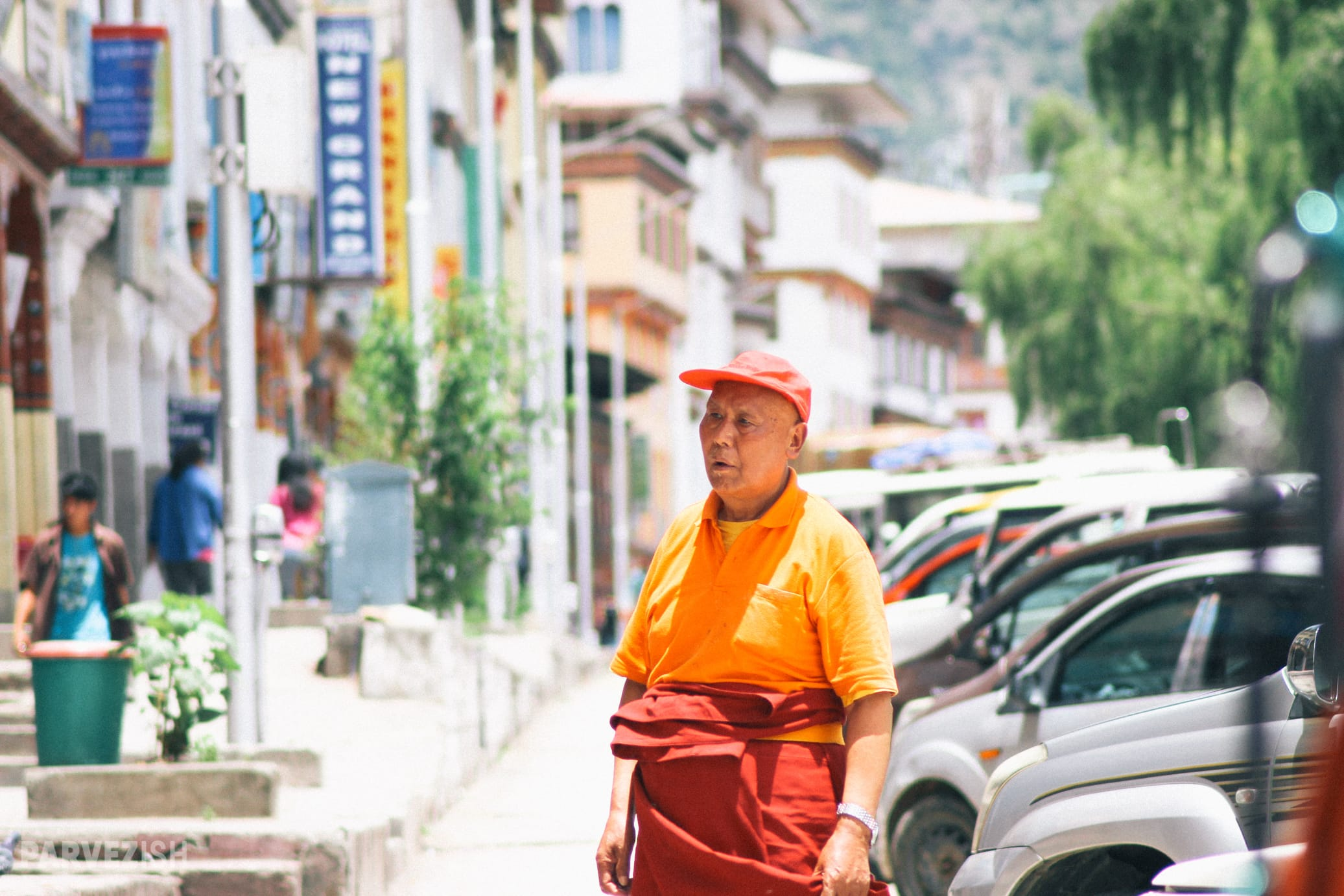 An Elderly Man in A Street of Thimpu