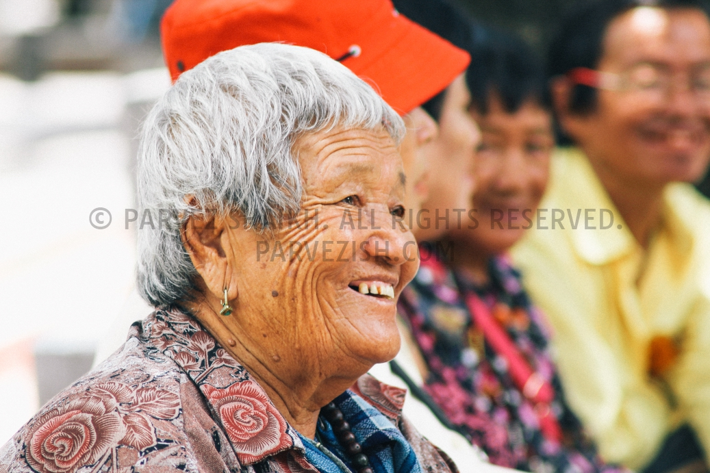 A smiling Bhutanese lady