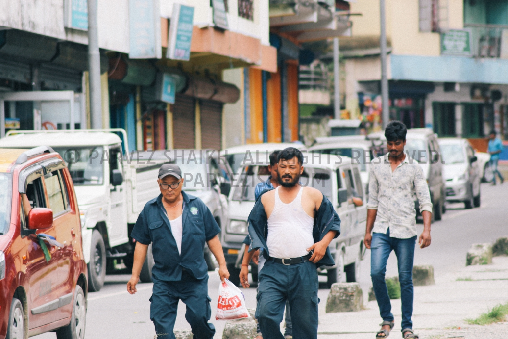 Some Bhutanese workers photographed in Phuntsholing