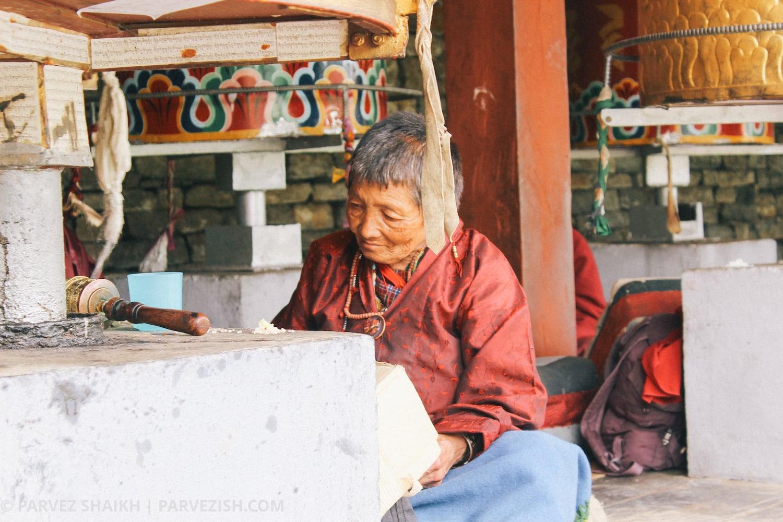 A Buddhist Lady Praying