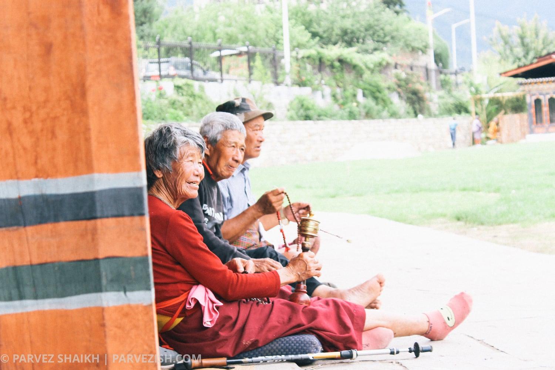 Bhutanese Elders in Thimphu Bhutan