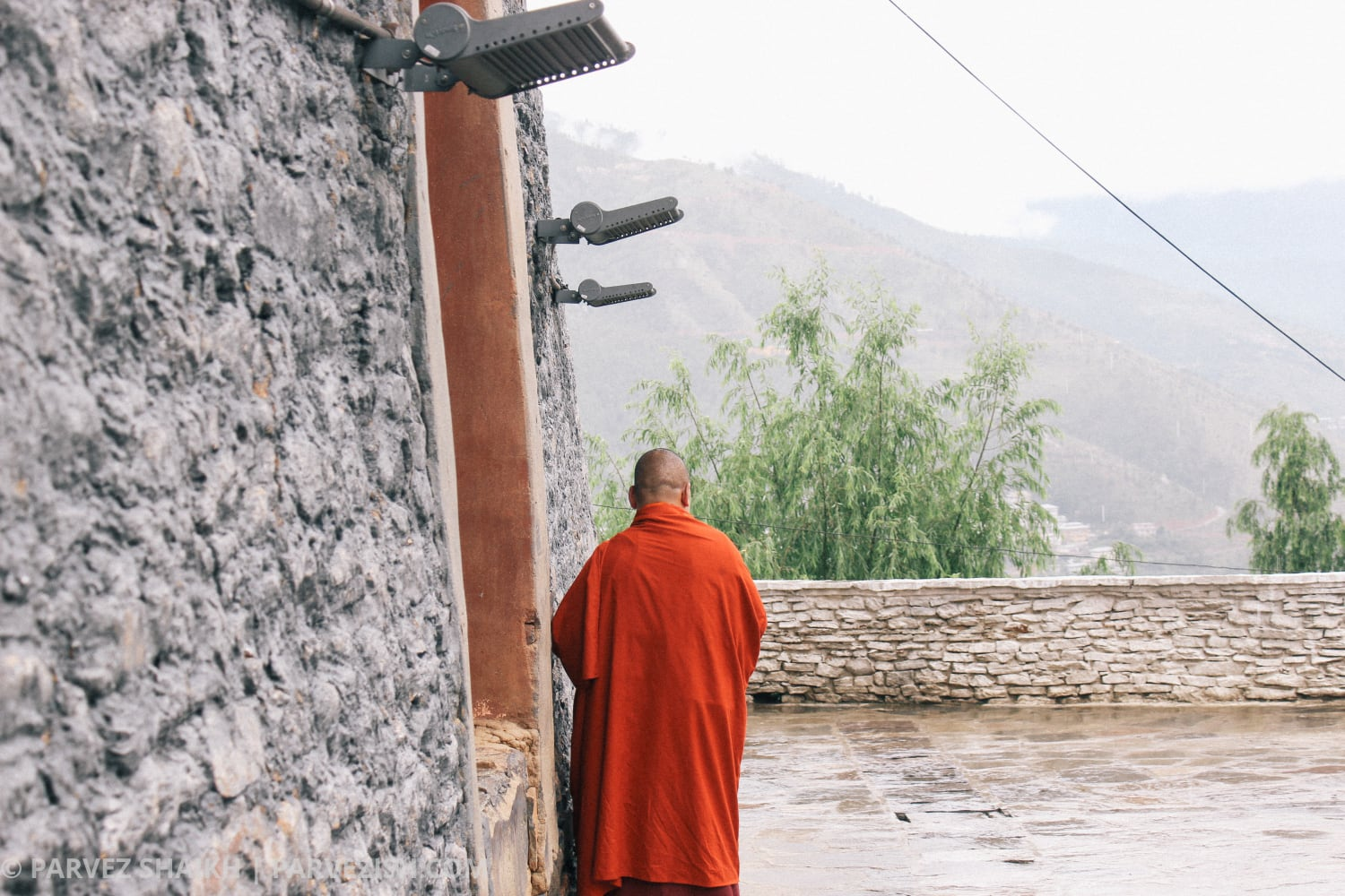 A Buddhist Monk at Changangkha Lhakhang Thimphu