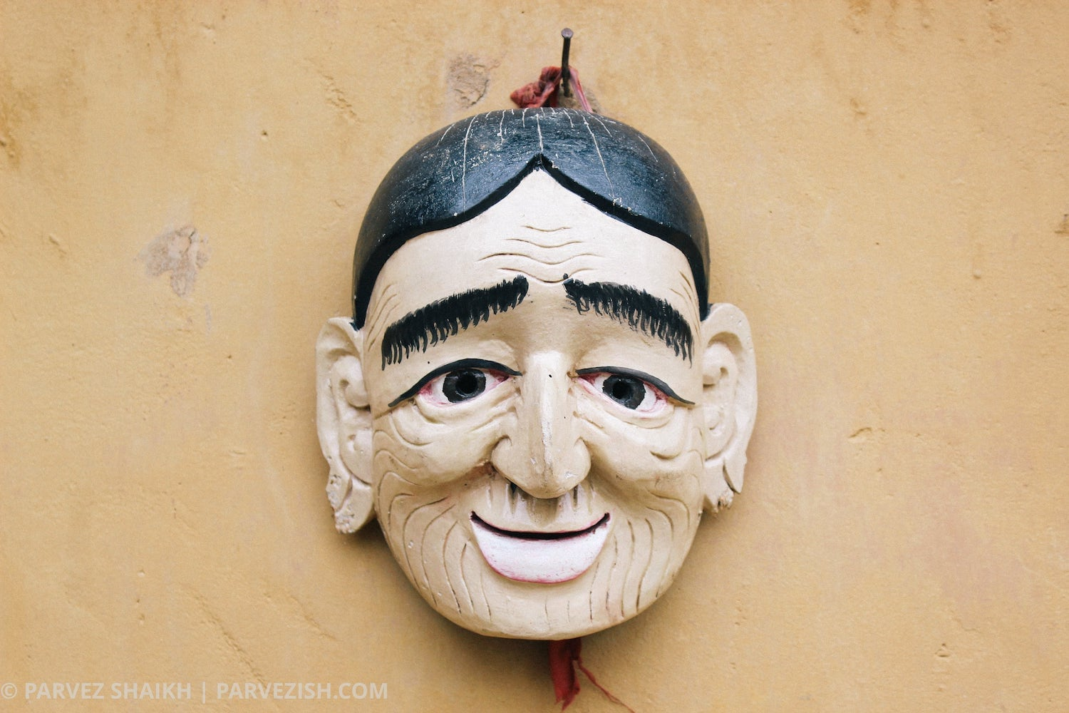 A Traditional Mask at Simply Bhutan Museum