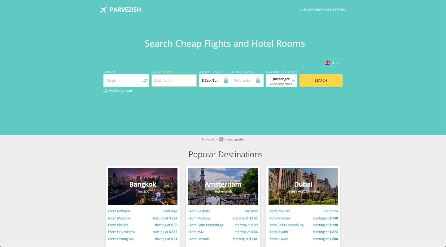 How to Make a Free White Label Flight Search Engine