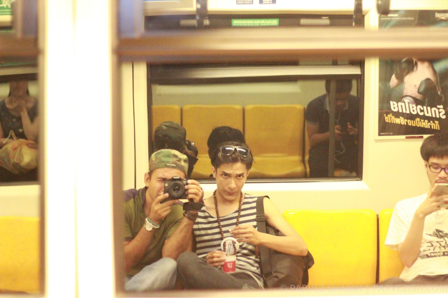 Parvez and Khalyf in a Metro