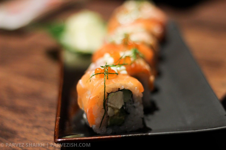 Salmon Rolls in Bangkok