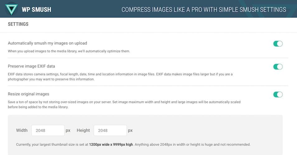 Smush Image Compression