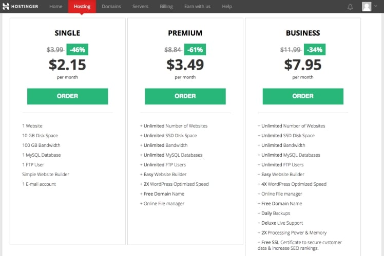 Hostinger Shared Hosting Price