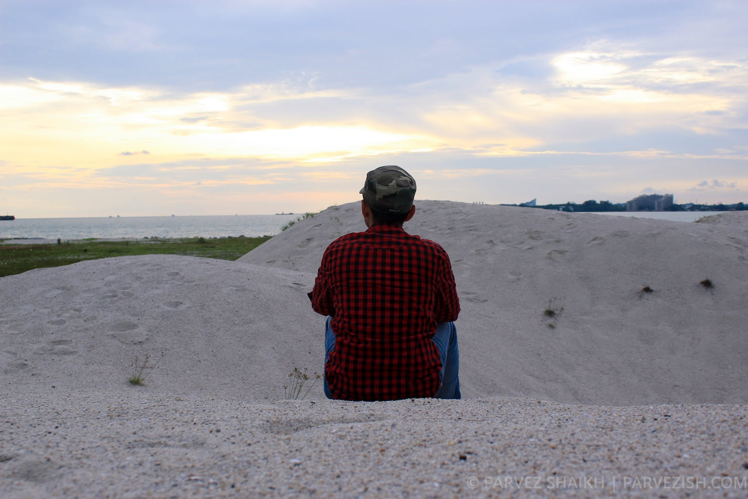 Sitting in the Sand Dune of Malacca