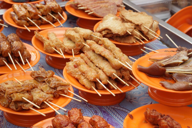 Street Food at Jonker Walk Malacca Malaysia