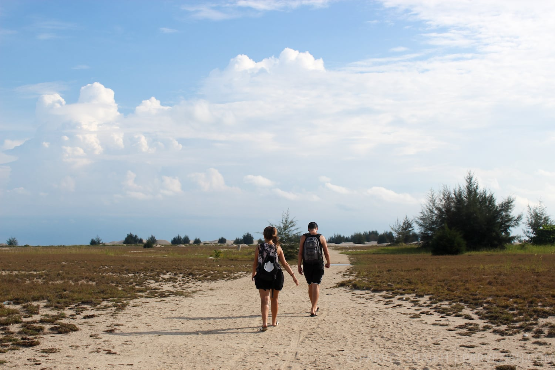 Walking Towards the Sand Dunes