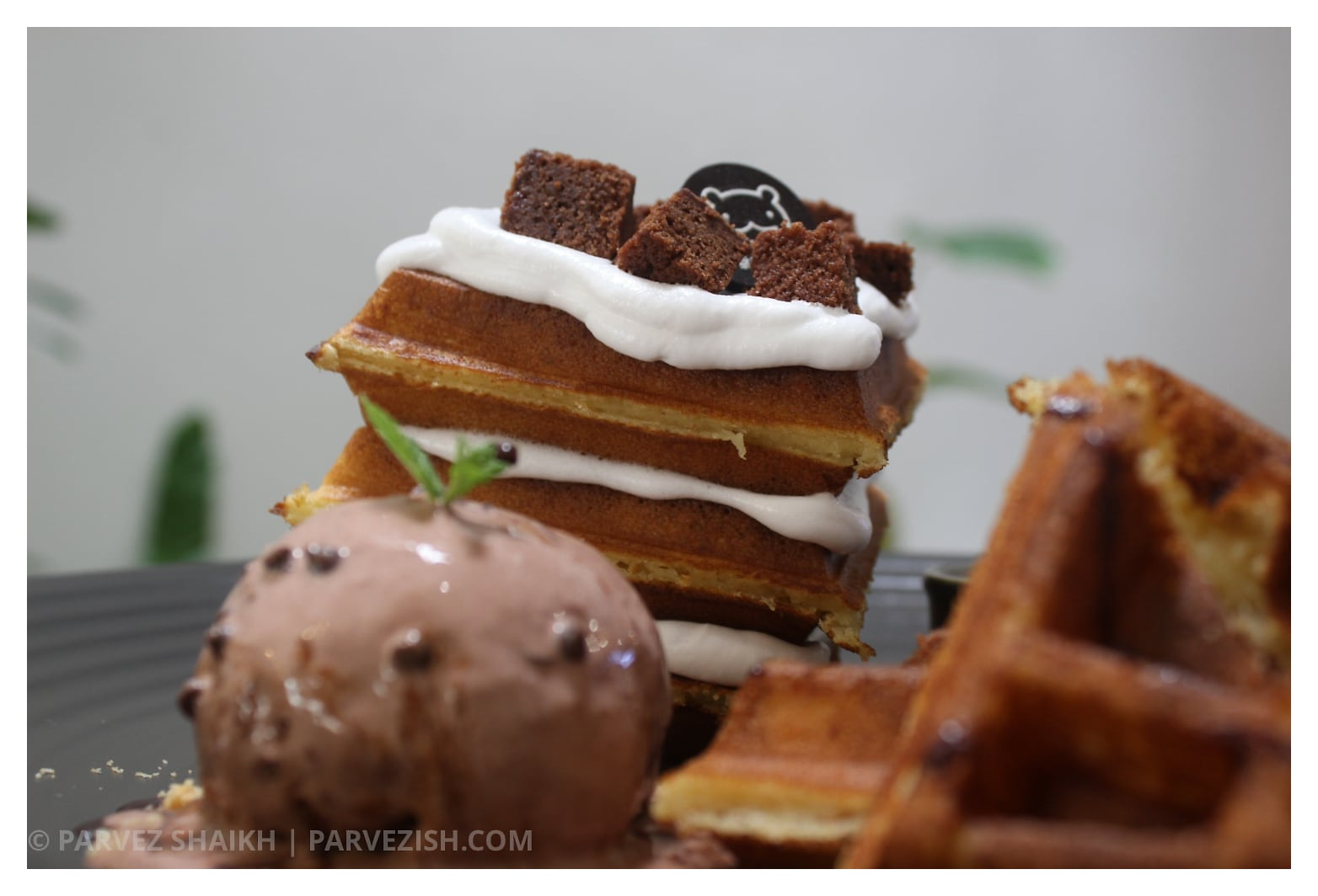 Chocolate Waffles at Miyakori Cafe Malacca