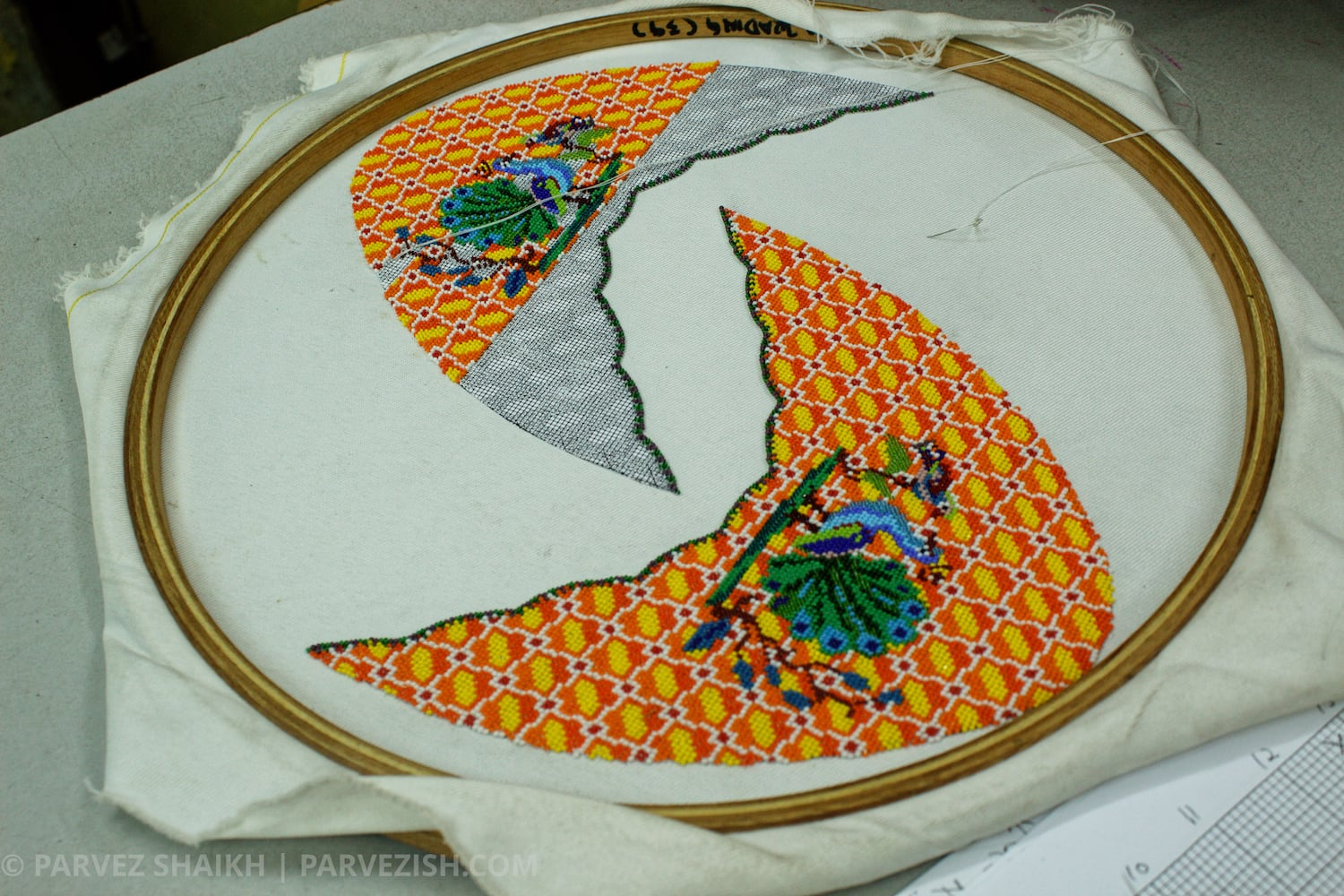 Design of Beaded Nyonya Shoes