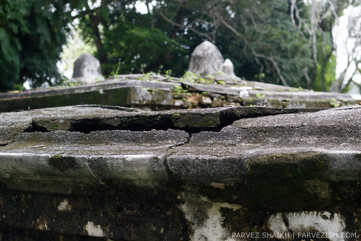 A Damaged Tomb at Old Protestant Cemetery