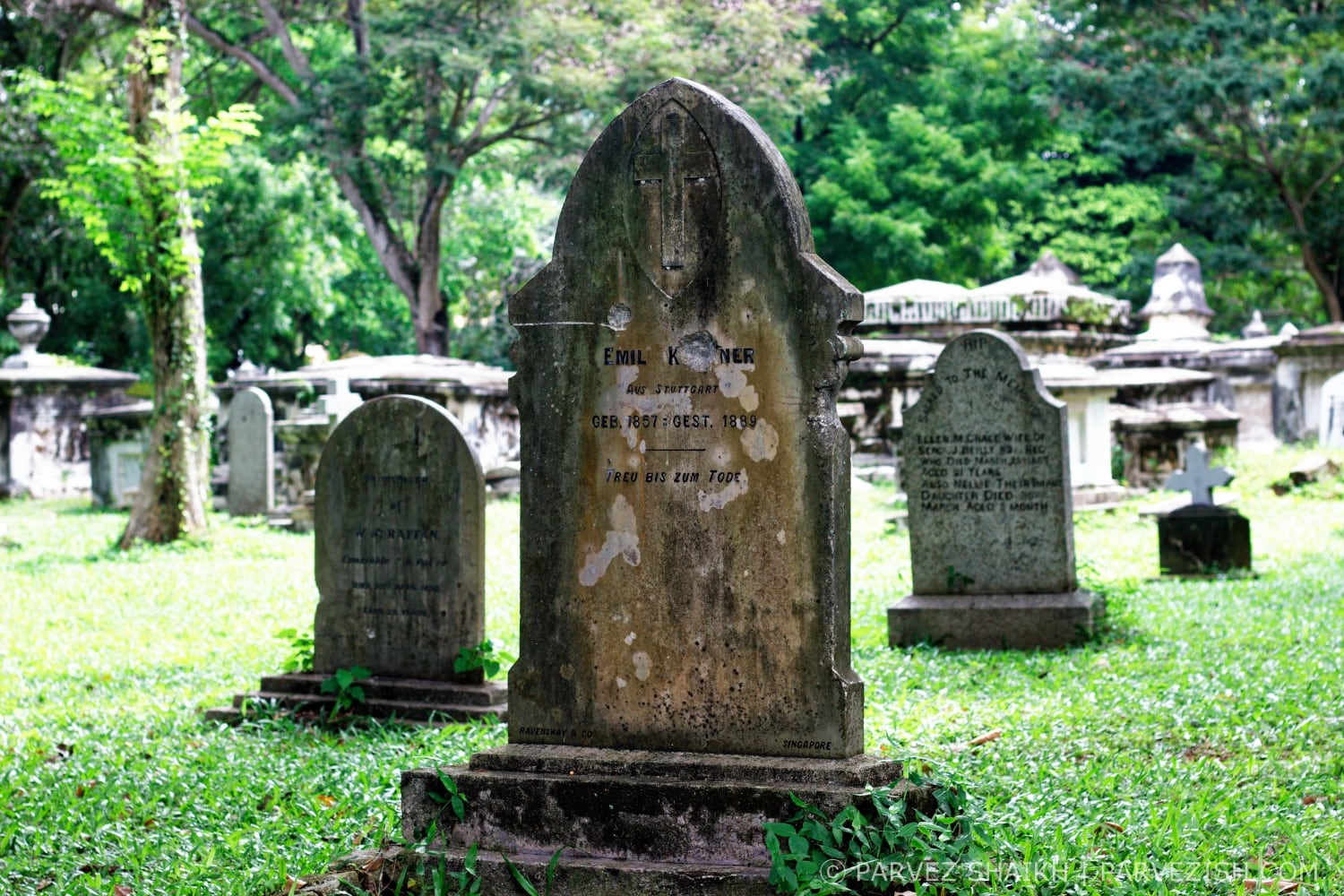A Grave At Northam Road Cemetery Penang