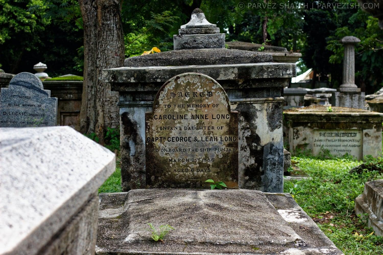 Grave of Caroline Anne Long - a 6-days-old infant
