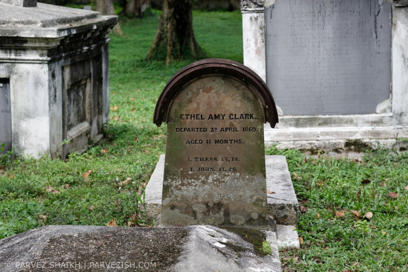 Grave of Ethel Amy Clark at the Old Protestant Cemetery Penang