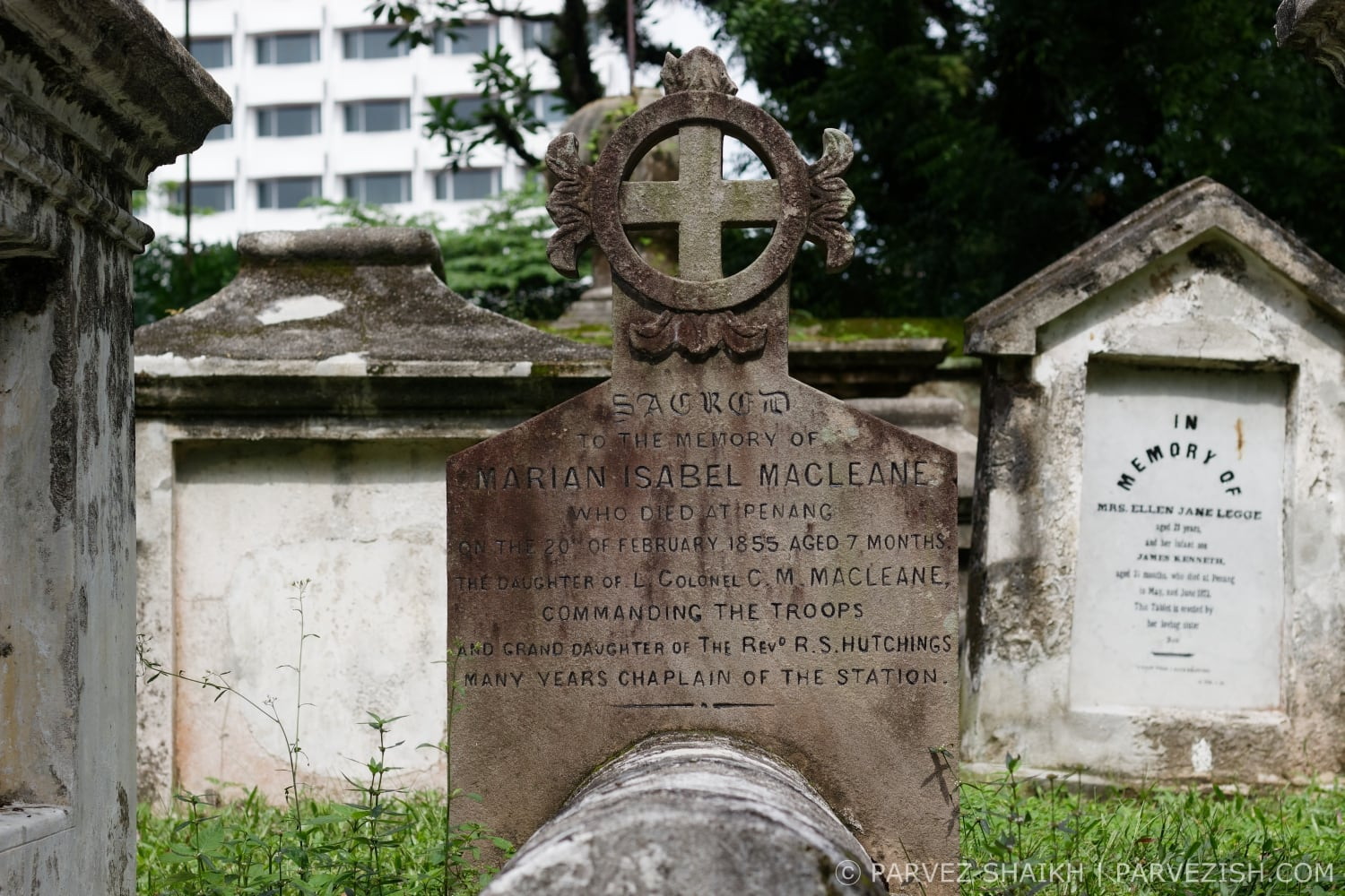 The Grave of Marian Isabel Macleane at the Old Protestant Cemetery