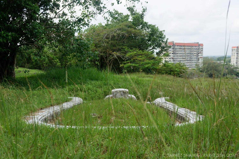 A Chinese Tomb at Bukit China Burial Ground